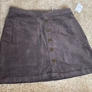Forever 21 Grey Suede Skirt